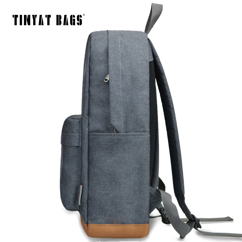 TINYAT Men's 15 inch laptop backpack computer male school backpacks rucksacks leisure for teenage Travel Women Shoulder Mochila  3