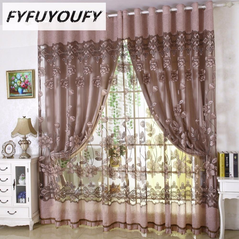 US $7.06 55% OFF|European Floral tüll vorhänge für wohnzimmer gardinen für  Luxus Fenster Vorhänge schlafzimmer können benutzerdefinierte ...