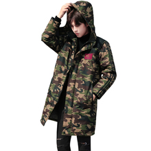 2017 new plus size M-4XL  Winter Parkas Jacket Men Long Thicken Warm Cotton-padded  Hooded Camouflage snow coat Outwear Jacket