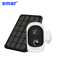 Smar solar camera Rechargeable Battery IP Camera with Solar Panel Outdoor Weatherproof Security Cam Wifi PIR Motion Alarm цена