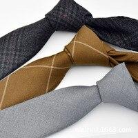 2017 erkek Takım Elbise Kravat Klasik erkek Ekose Kravat Abiyeler Iş Bowknots Kravatlar Erkek Pamuk Skinny Slim Kravatlar Cravat