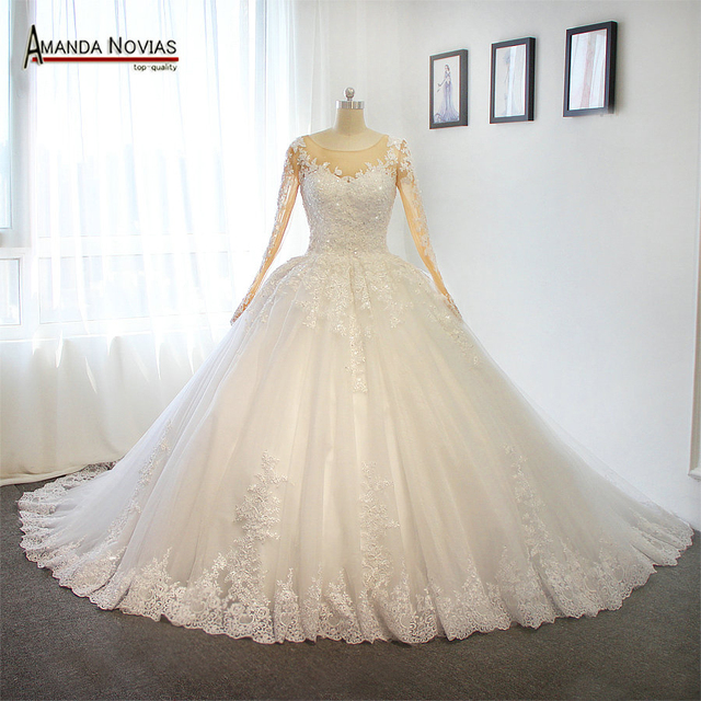 Princess puffy wedding dress puffy ball gown wedding dress for ...