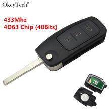 Складной автомобильный ключ okeytech с дистанционным управлением