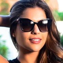 MIZHO Fashion Square Style Gradient Star Sunglasses Women Retro Brand Design Yellow Cateye Sun Glasses Ladies Oculos De Sol