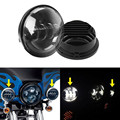 "2pcs 4.5 Inch Motorcycle LED Fog Lamp 4-1/2"" 30W LED Auxiliary Motorbike Fog Passing Light For Harley Daivdson"