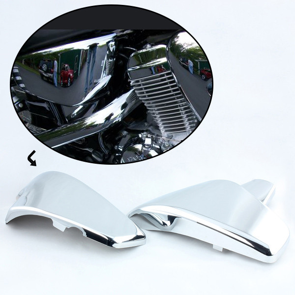 Chrome Battery Faring Side Cover Fit Honda VLX 600 99-08 VT 600 Steed 400 600 400VLS VT600 тюнинг фар мотоцикла 400 600 steed