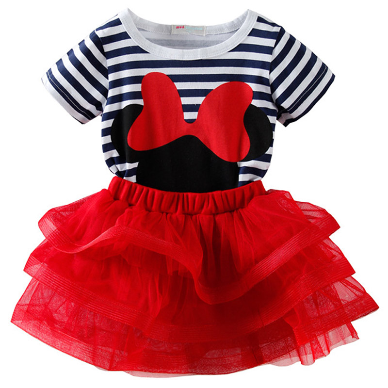 Women Minnie Mouse Clothes Units 2019 Summer season Stripe T Shirt Two-piece Youngsters Units Informal Tops Tutu Skirt Women Garments Swimsuit Clothes Units, Low cost Clothes Units, Women Minnie...