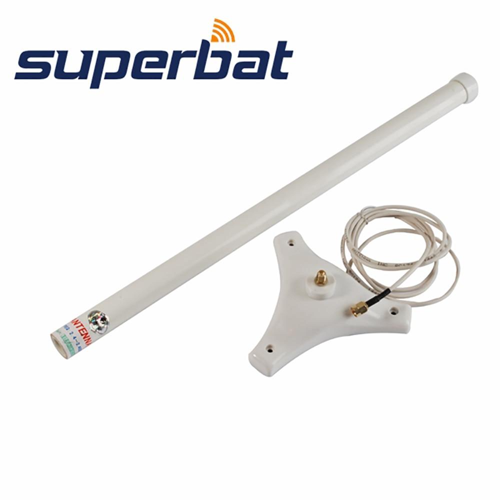 Superbat 2.4 GHz 2400 ~ 2483 MHZ 9dBi Omni WiFi Booster antenne RP-SMA aérienne 1.5 M cordon Base magnétique pour carte LAN sans fil AP