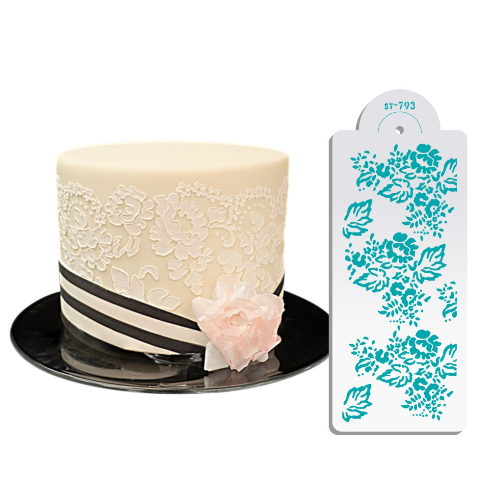 wedding cake lace molds sugarcraft chantilly lace leaf cake lace stencil cake 23054