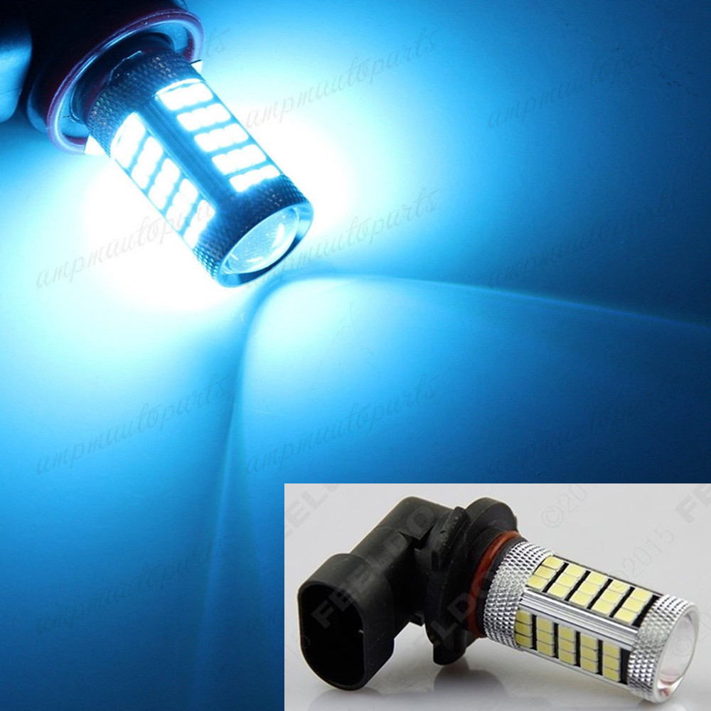 CYAN SOIL BAY Car Vehicle 9006 HB4 2835 63 66 SMD 1200Lm Ice Blue Bulb Fog Light For DRL 12V Bright Than 33 SMD  car vehicle 9006 hb4 2835 63 66 smd 1200lm white bulb fog light for drl 6000k 12v 24v bright than 33 smd