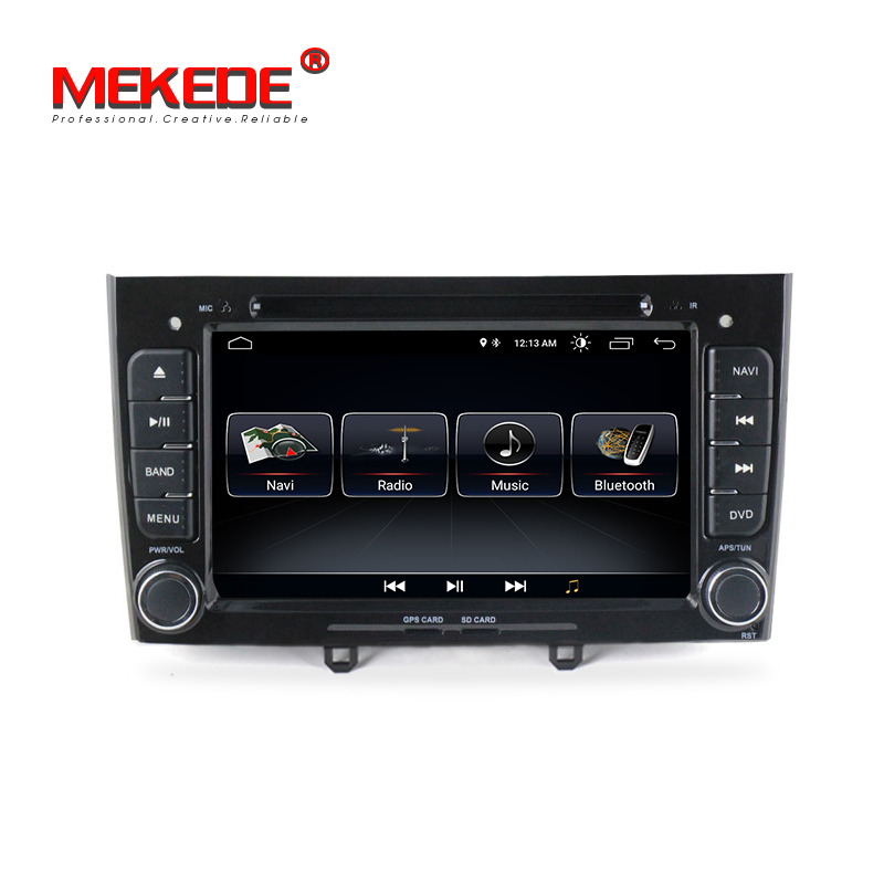 MEKEDE Android 8.1  Car radio DVD Player for Peugeot 408 2010-2011 & Peugeot 308 I (T7) 2008- 2011 with wifi BT free shipping