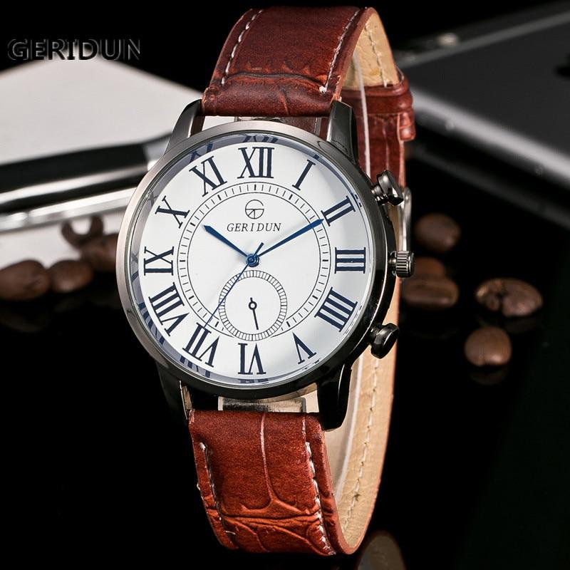 2017 GERIDUN Nieuwe Casual Quartz horloge mannen militaire Horloges - Herenhorloges