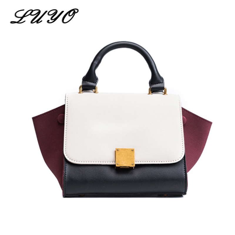 30b48a96acbd Detail Feedback Questions about LUYO Fashion Trapeze Panelled Luxury Handbags  Women Leather Bags Designer Crossbody Bags For Female Small Girl Shoulder  ...