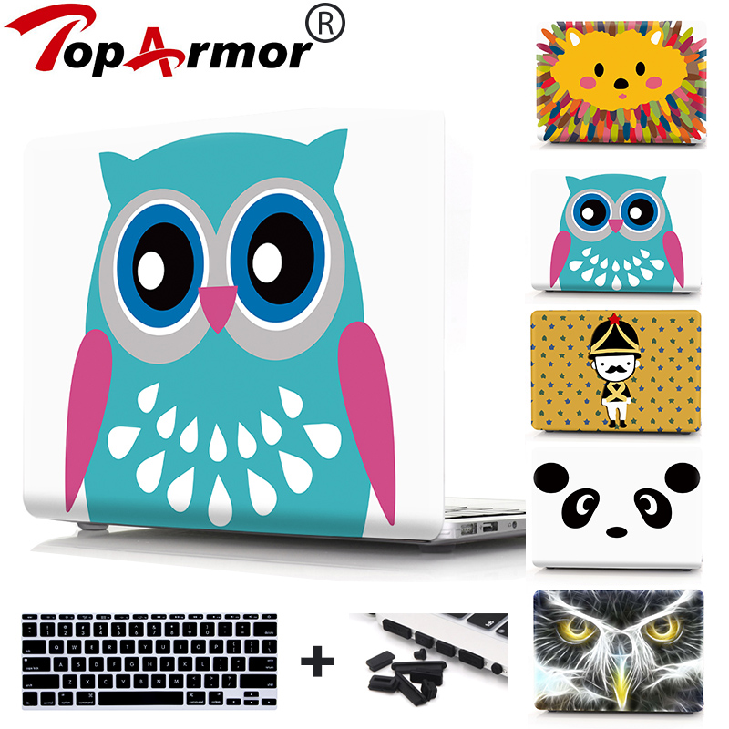 TopArmor Matte Case For Apple Macbook Air 11 13 For MacBook Pro 13 15 For MacBook Retina 12 13.3 15 Laptop Bag & A1707/1707/1708