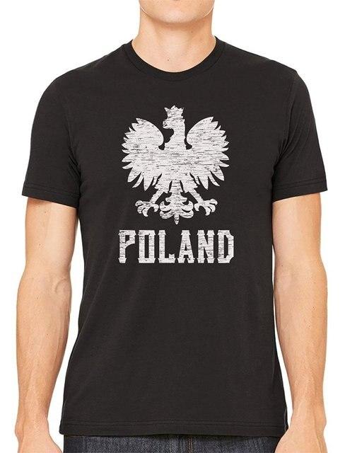 d6e41103e798 High Quality Mens T-Shirt Summer O Neck Cotton Fashion Men Printed T Shirts  Cybertela Poland White Eagle Men s T-shirt