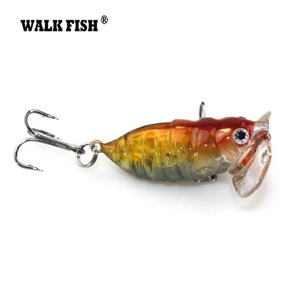 Buy walk fish 1pcs 4cm cicada popper for 1 fish 2 fish store