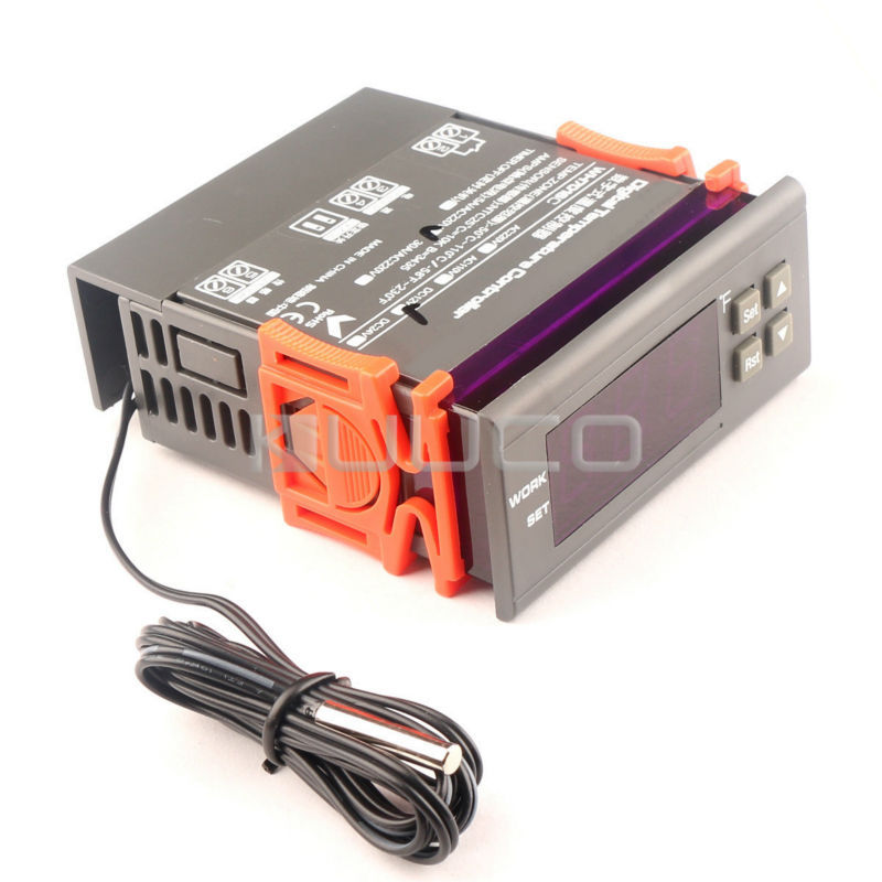 Digital Tester DC12V Temperature Control Switch -58~230 Fahrenheit Degrees Thermostat for Heating Cooling Heat-sinking