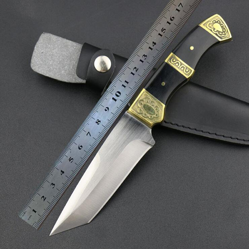 Straight Fixed Blade font b Knife b font Stainless Steel font b Tactical b font Hunting