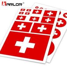 Autocollants Logo moto, drapeau suisse Ho, étiquette à gratter, couverture pour ordinateur portable Ipad, style de voiture pratique