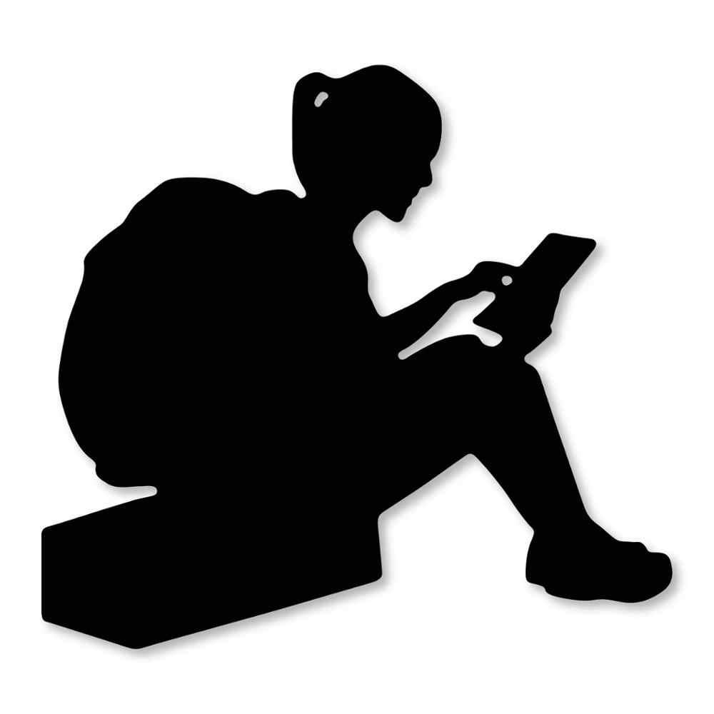 Сумка для чтения книг девушка 80*74 мм металлическая резка Скрапбукинг альбом