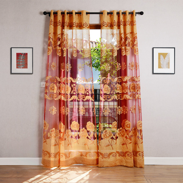 Online Shop Ramada Classica Eleganza Fiore Tull CurtainsFabric per ...