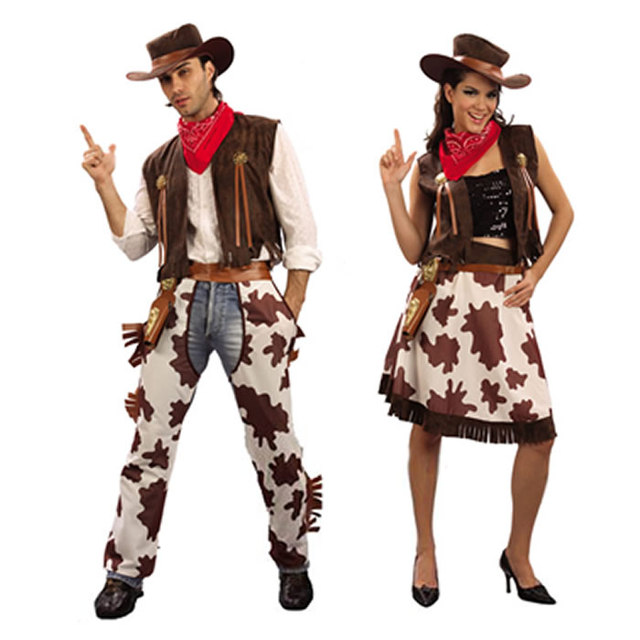 New Halloween Costume For Adult Men Women Cosplay Western Male