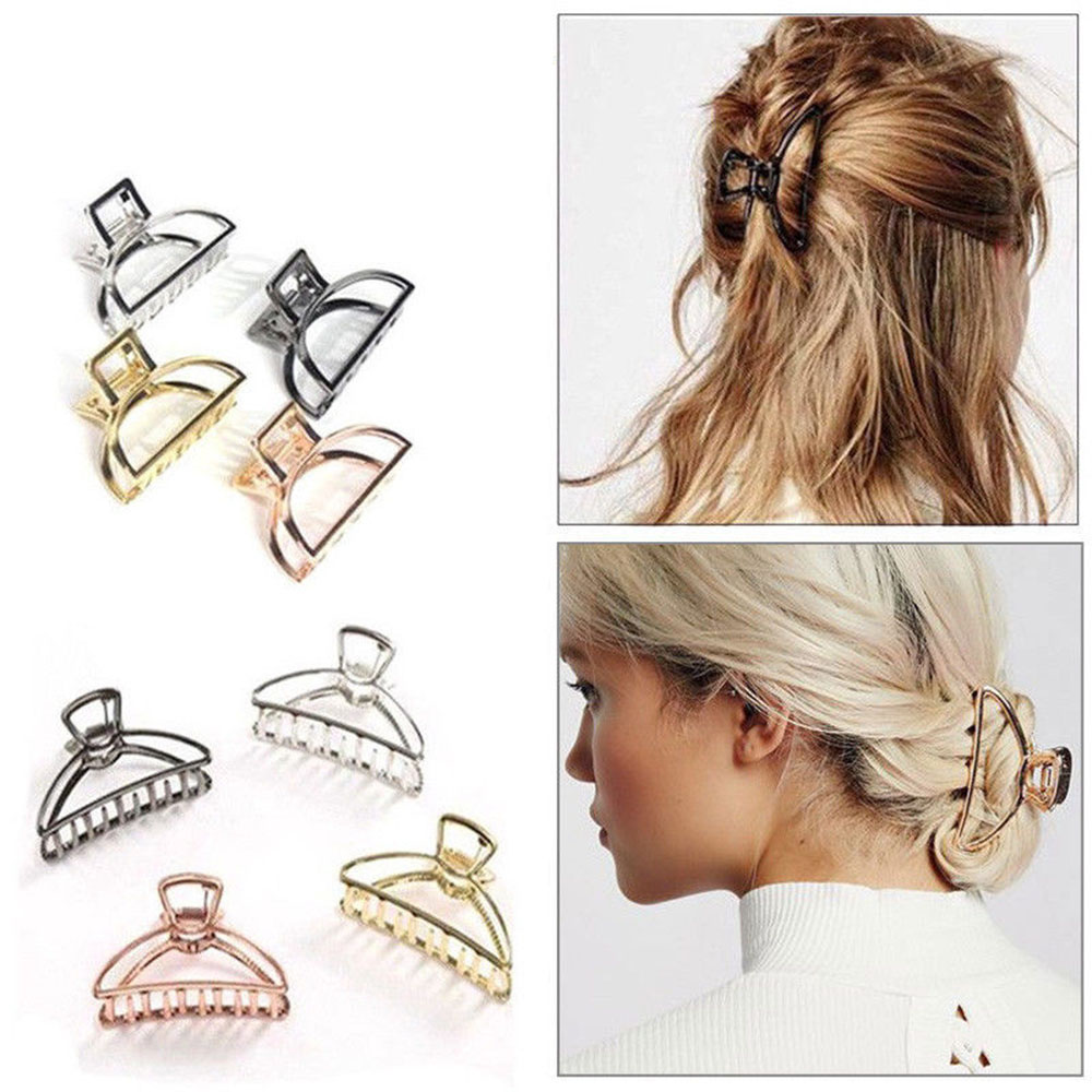 2019 Fashion Ladies Large Hair Claw Clamps Small Hair Clip Butterfly Claws Clamps Accessories