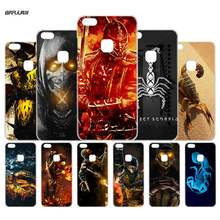 Case for Huawei P 6 10 9 8 Lite 2017 honor8 Lite Mate 8 10 Lite 10Pro Clear Hard PC Coque Phone Cover Scorpion in Mortal Kombat(China)