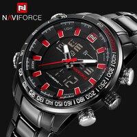 Relogio masculino naviforce 브랜드 새로운 패션 디지털 남성 시계 남성 비즈니스 시계 방수 시계 남성 석영 캐주얼 손목 시계
