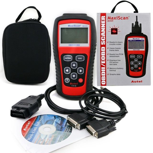 Autel MaxiScan OBDII / EOBD Auto Code Reader Fit For US&Asian & European Vehicles+Auto Code Scanner