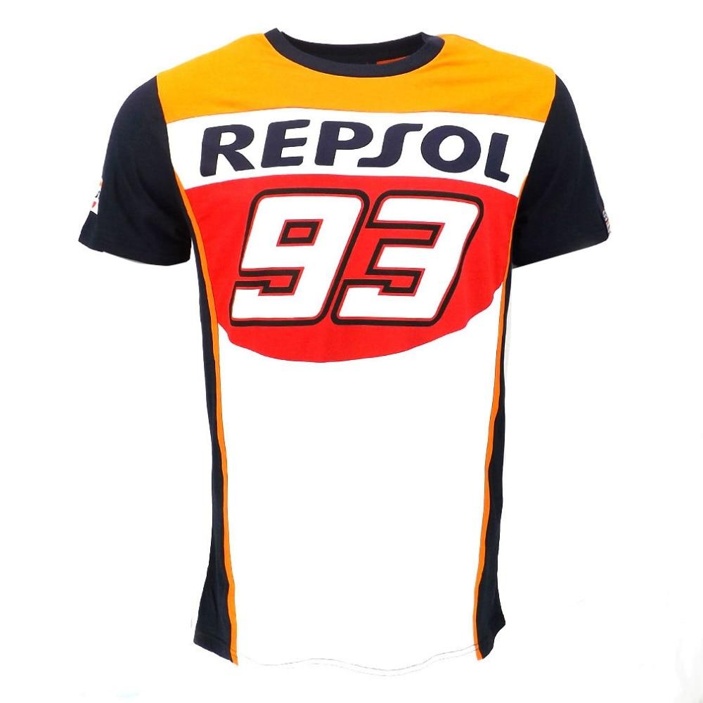 2018 MotoGP Marc 93 REPSOL T-shirt ATV MX Motorcross Mountain Dirt Bike Short Jersey Shirts Moto gp MM93 T-shirts