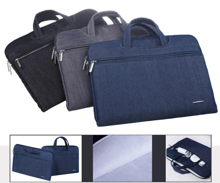 11 12 13 14 15 inch Denim Jeans Designer Shockproof Multi-purpose Laptop Notebook Briefcase Bag Case Sleeves for Men Women