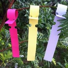 100 шт мини 6 цветов горшок для садового растения маркеры пластиковые колы привязанные бирки газон саженцы деревьев растения Фруктовые деревья знаки оперативная карта