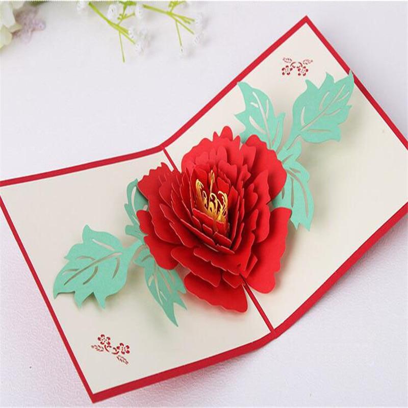 3 stil danke karte für 3 d handgemachte papier schnitt valentinstag ...