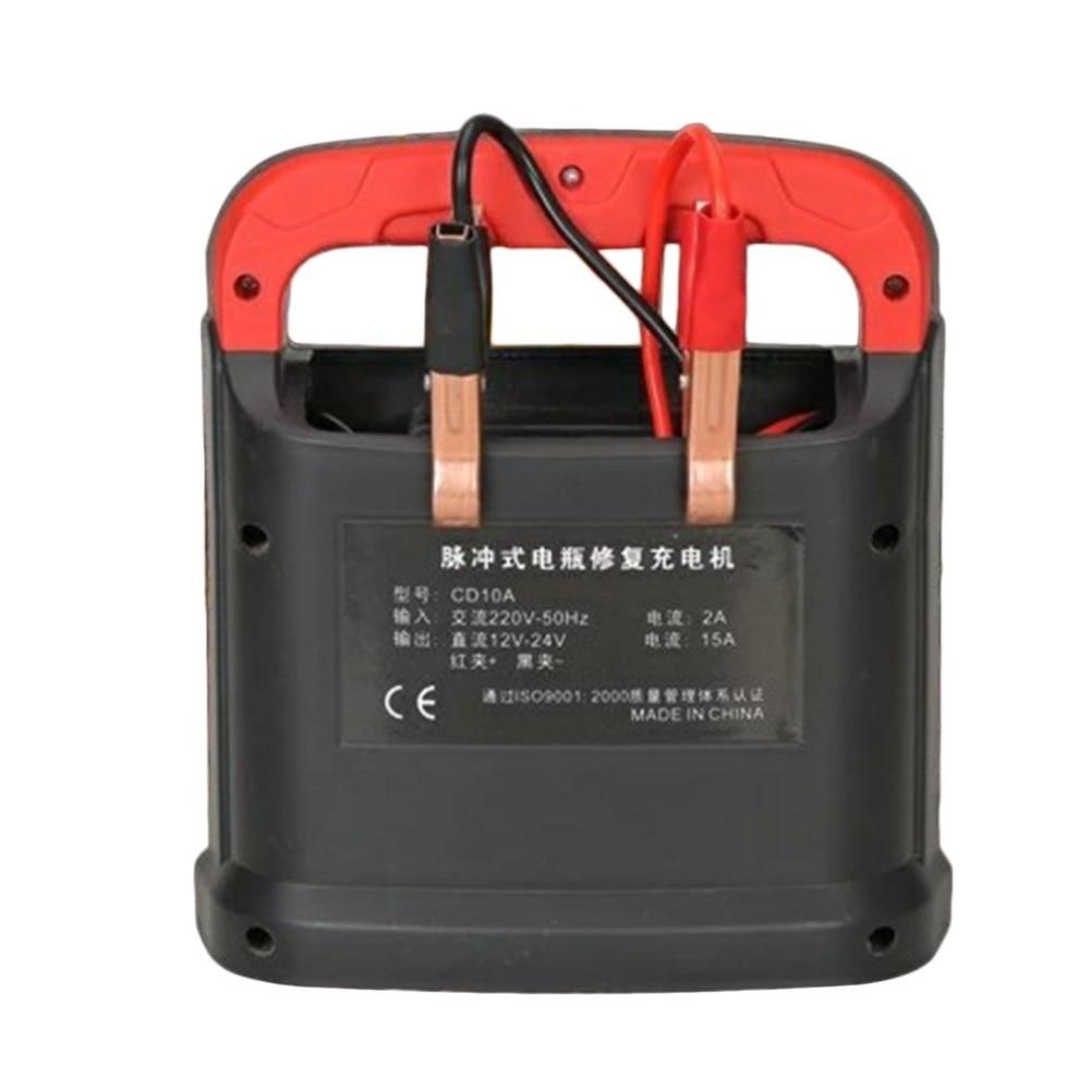 Nouvel Ordinateur De Poche Batterie De Voiture Chargeur Double LED Affichage Automatique Réparation D'impulsion Type Intelligent Charge Rapide Machine pour Voitures Camions