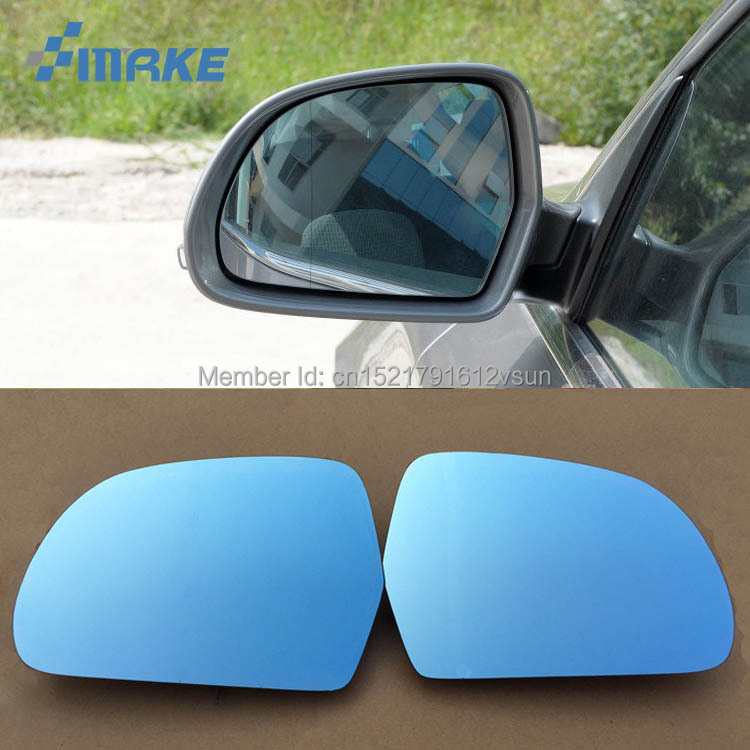 smRKE 2Pcs For Skoda Superb Rearview Mirror Blue Glasses Wide Angle Led Turn Signals light Power Heating