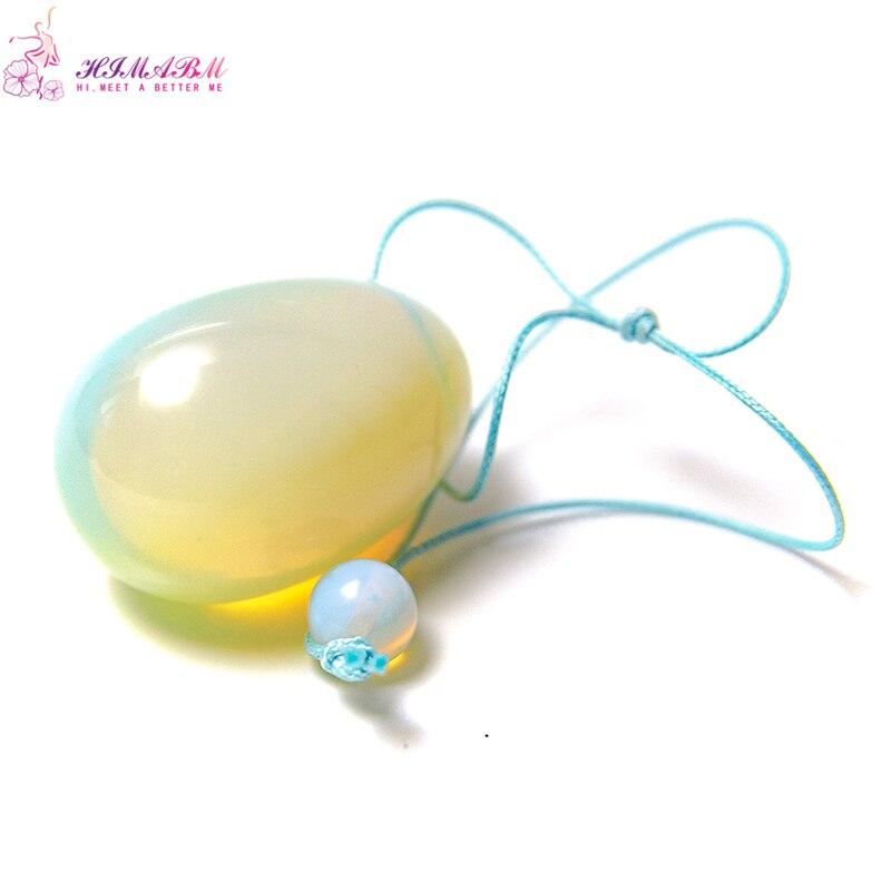 Natural big size 40*30cm(1pcs) Opal jade crystal gemstone egg Pelvic floor Muscle Vaginal Ben Wa yoni egg for Kegel exercise