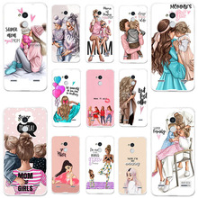 Phone Cases for ZTE Blade V7 Lite Case Silicone Cover V6 Plus A2 BV0720 5.0 Bags Black Brown Hair Baby Mom Girl