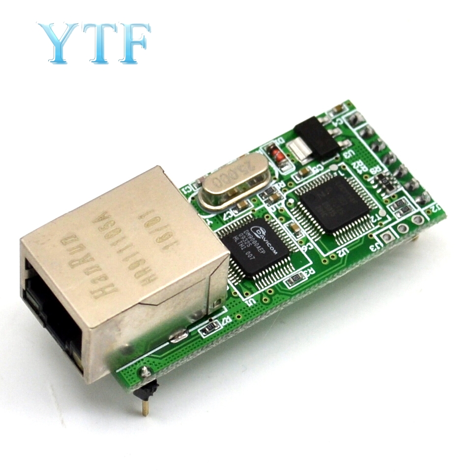 USR-TCP232-T2 RS232 Serial To Ethernet Module Tcp Ip UDP Network Converter Module TTL Lan Module With RJ45 Port