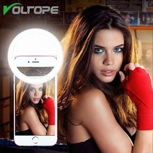 VOLTOPE Ring Light Battery Phone Photography Selfie Light Portable Flash Led Camera Photography for iPhone7 6 5s Samsung huawei