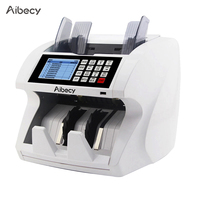 RU US Aibecy мультивалютный наличные игрушечные Деньги Билл автоматический счетчик ЖК-дисплей Дисплей для евро доллар США AUD фунт