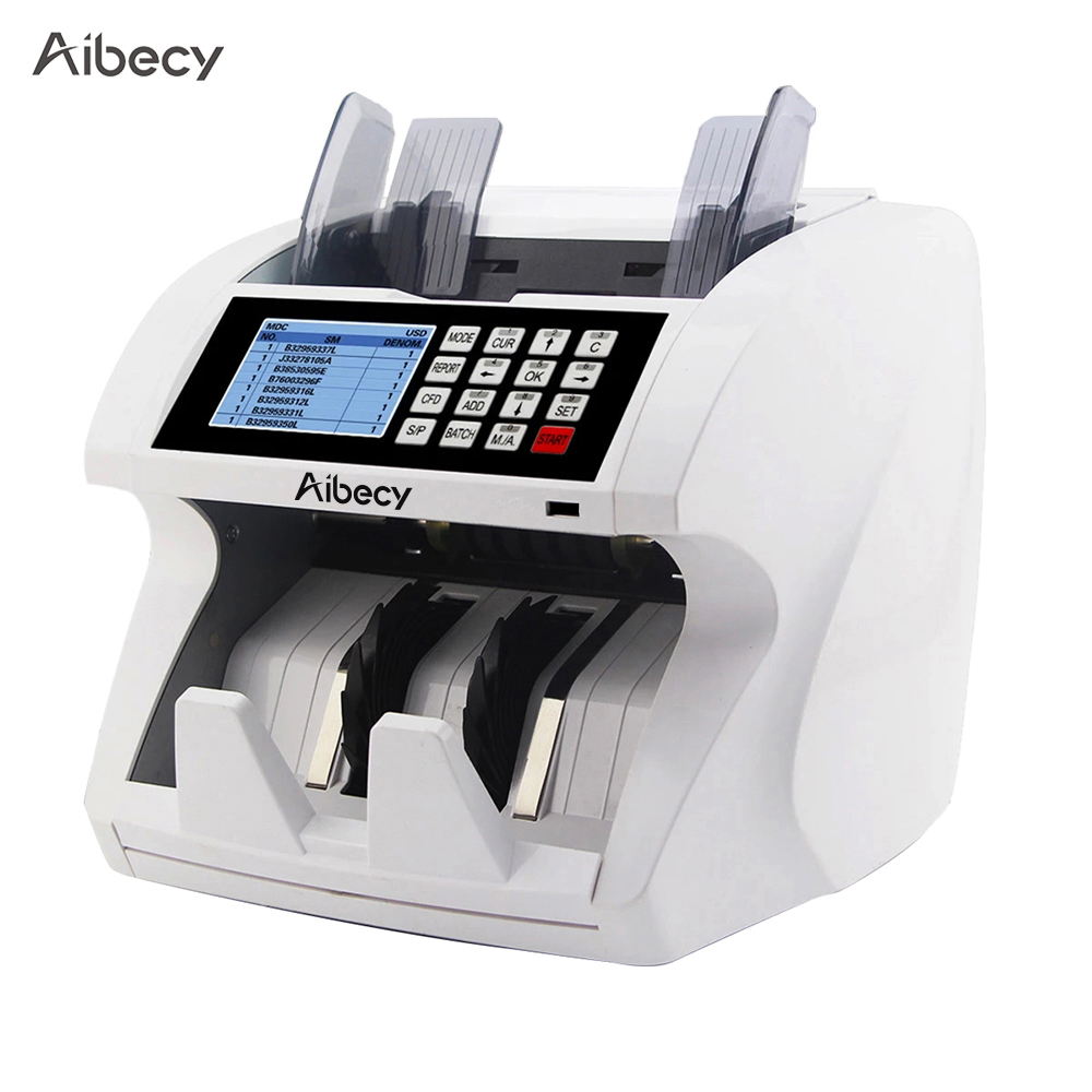 RU US Aibecy Multi-Currency Cash Banknote Money Bill Automatic Counter Counting Machine LCD Display for EURO US Dollar AUD Pound обучающая машина noah np8000