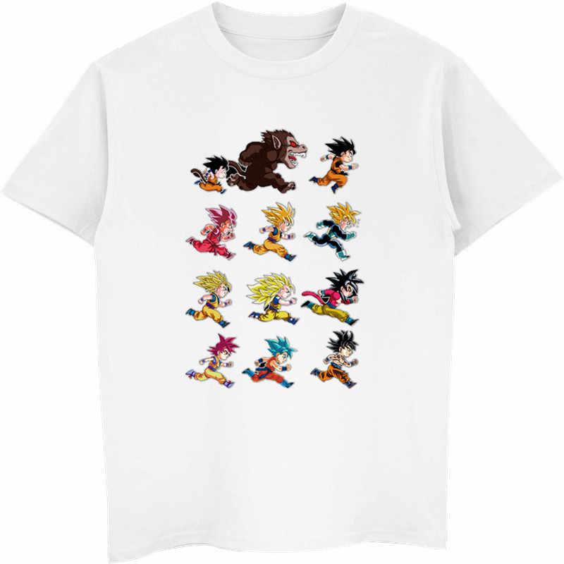Новый Жемчуг дракона Z Goku Super Saiyan футболка с короткими рукавами и круглым вырезом летняя футболка сайан вежета аниме Harajuku крутые футболки топы