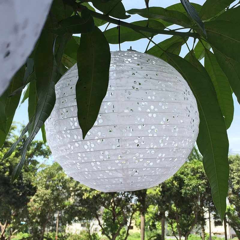 High Quality 1PC White China Round Hollow Paper Lantern Home Birthday Party Wedding Party Events Decoration DIY Lampion Lantern