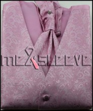 hot sale MENS Polyester Tuxedo pink paisley VEST Fullback ALL SIZES New