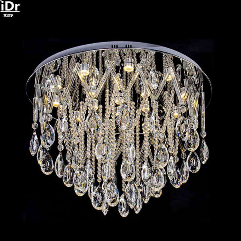 Luxury crystal ornaments modern minimalist living room restaurant bedroom lamp LED Ceiling Lights Rmy-098
