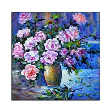 NEW 3D Diamond Painting Cross Stitch Red Floral Vase Crystal Needlework  Embroidery Flower Full Decorative