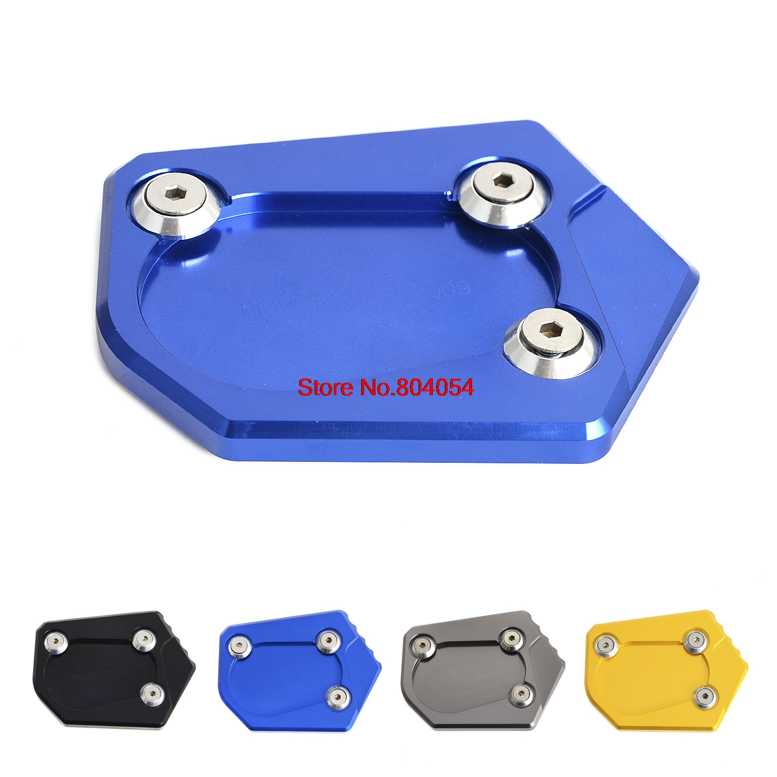 CNC Side Kickstand Stand Extension Plate For BMW R1200R 06-14 R1200RT 05-13 <font><b>R1200ST</b></font> 03-07 R900 RT 2009 2010 image