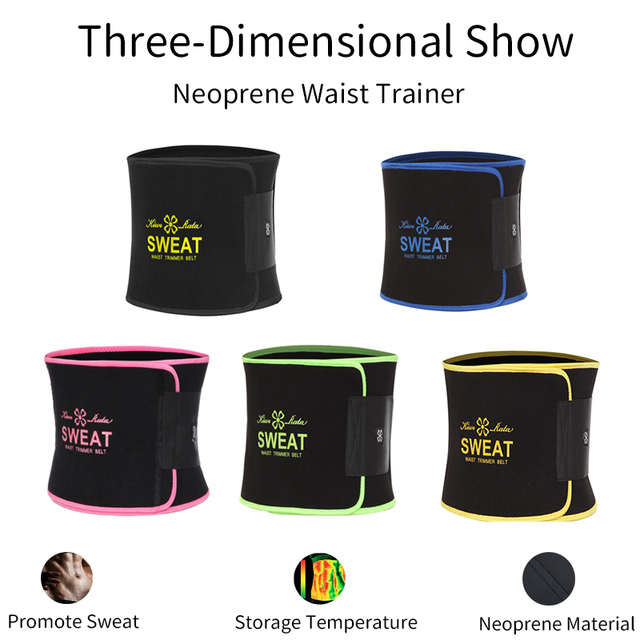 Neoprene Waist Trainer Belt Sweat Waist Trimmer Slimming Corset Xtreme Belt Modeling Strap Body Shaper Tummy Fajas For Men Women 2