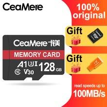 CeaMere 6 16 Class10 UHS 1 8GB Classe Cartão Micro SD GB/32 GB U1 64 GB/128 GB/256 GB U3 Memória Flash Cartão de Memória Microsd para Smartphone